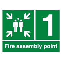 Numbered Fire Assembly Point Signs
