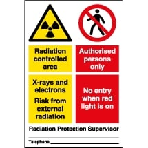 Radiation Area Safety Signs