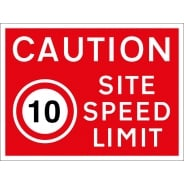 10mph Site Speed Limit Signs