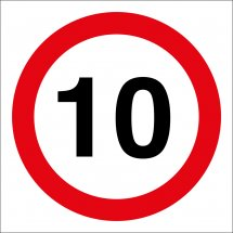 10mph Site Traffic Signs