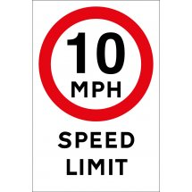 10mph Speed Limit Signs