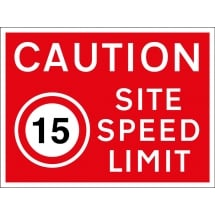 15mph Site Speed Limit Signs