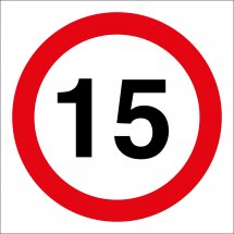 15mph Site Traffic Signs