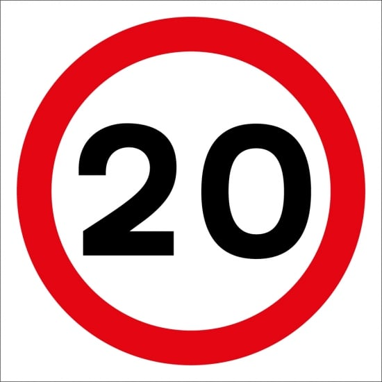 20mph Site Traffic Signs