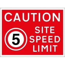 5mph Site Speed Limit Signs