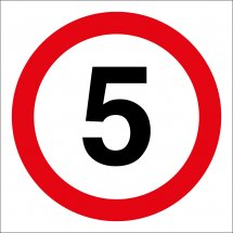 5mph Site Traffic Signs