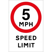 5mph Speed Limit Signs
