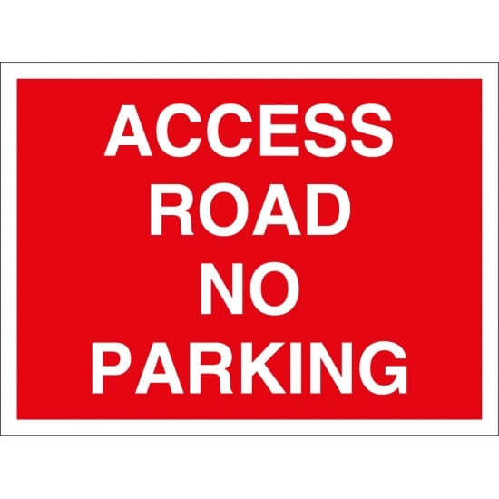 Access Road No Parking Signs