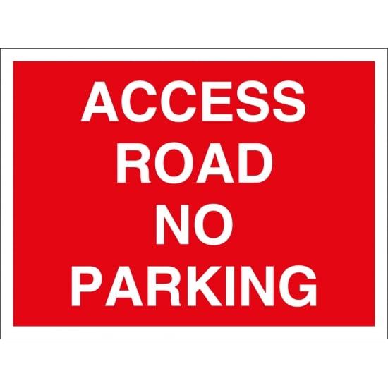 Access Road No Parking Signs