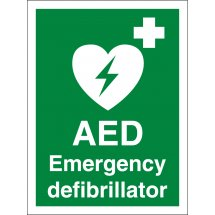 AED Emergency Defibrillator Signs