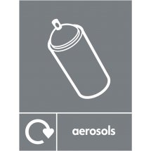 Aerosols Waste Recycling Signs