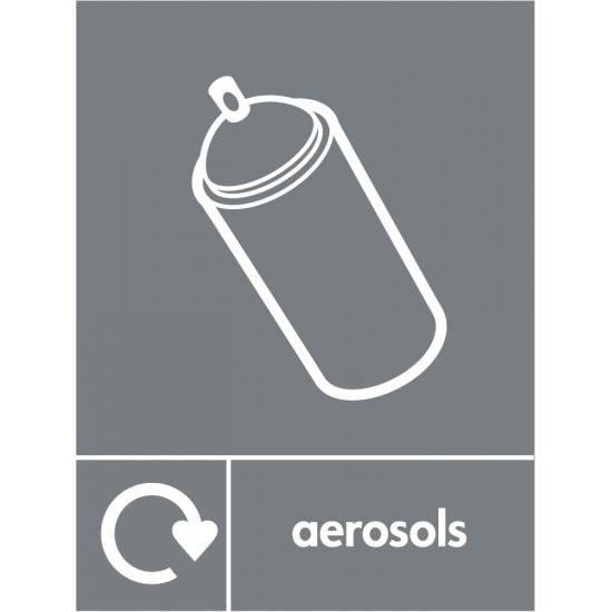 Aerosols Waste Recycling Signs