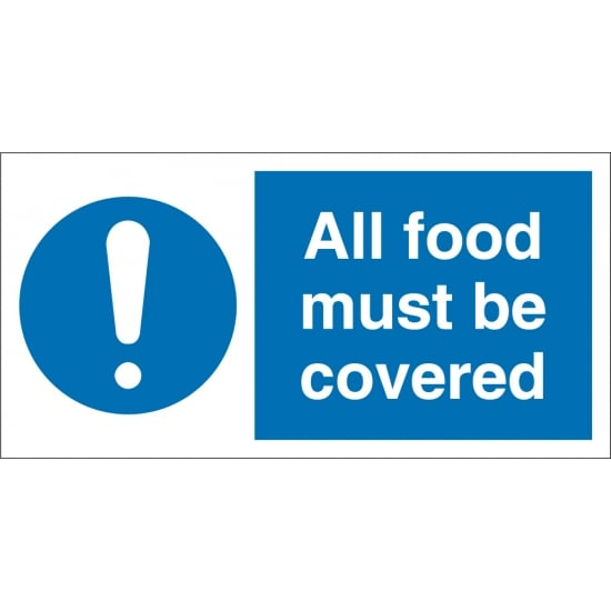 All Food Must Be Covered Signs