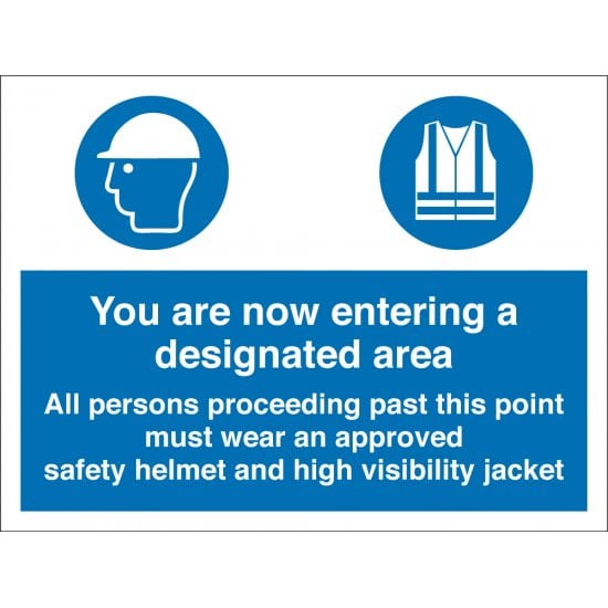 All Persons Must Wear Approved PPE Signs