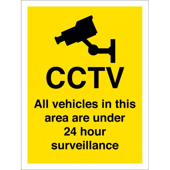 All Vehicles In This Area Are Under 24 Hour Surveillance Signs