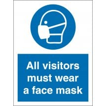 All Visitors Must Wear A Face Mask Signs