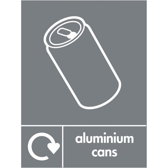 Aluminium cans waste recycling signs from key signs uk for Plaque decorative adhesive alu inox metal