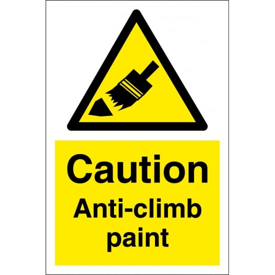 Anti Climb Paint Signs