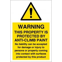 Anti Climb Paint Warning Signs