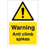 Anti Climb Spikes Signs