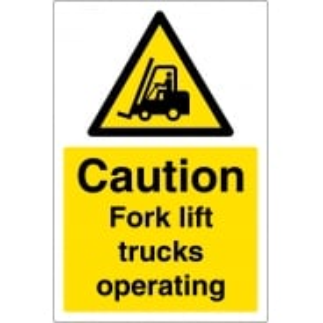 Anti Slip Fork Lift Trucks Operating Floor Signs
