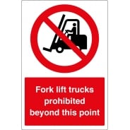 Anti Slip No Fork Lift Trucks Beyond This Point Floor Signs