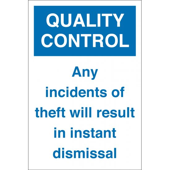 Any Incidents Of Theft Signs