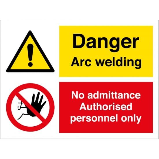 Arc Welding No Admittance Signs