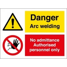 Arc Welding No Admittance Signs