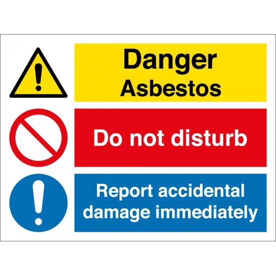 Asbestos Do Not Disturb Report Damage Signs