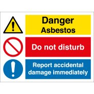 Asbestos Do Not Disturb Report Damage Signs