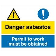 Asbestos Permit To Work Signs