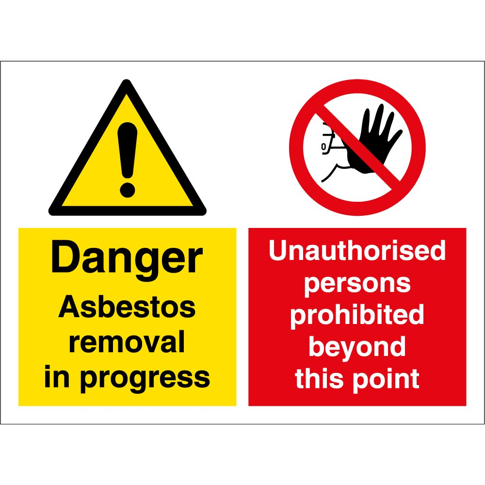 Asbestos Removal Multi Message Signs From Key Signs Uk