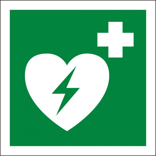 Automated External Heart Defibrillator Signs