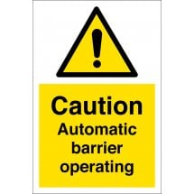 Automatic Barrier Operating Signs