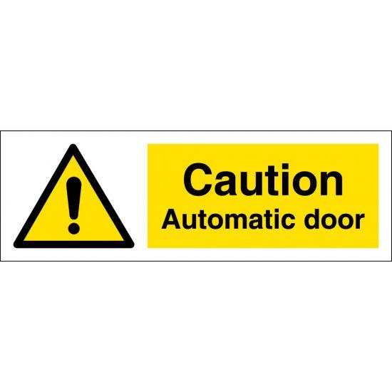 Automatic Door Warning Signs