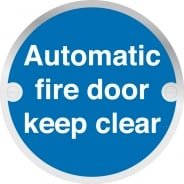 Automatic Fire Door Keep Clear Metal Signs