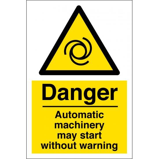 Automatic Machinery Warning Signs
