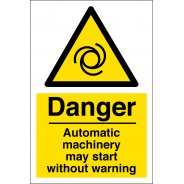 Automatic Machinery Warning Signs