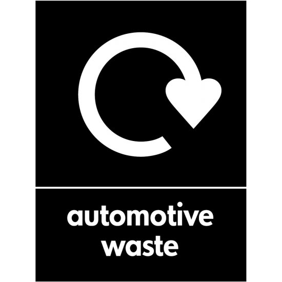 Automotive Waste Recycling Signs