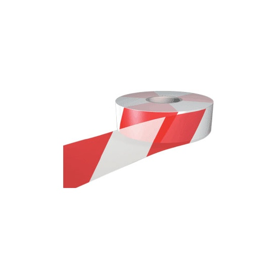 Barrier Tape 75mm x 500m Red and White