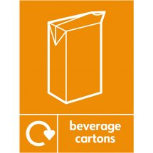 Beverage Cartons Waste Recycling Signs