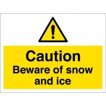 Beware Of Snow And Ice Safety Signs