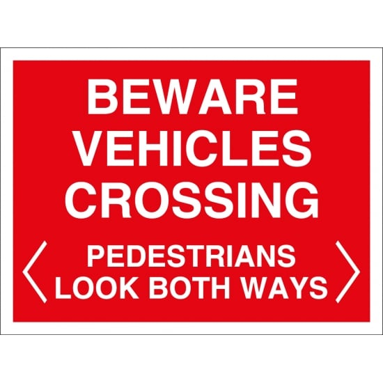 Beware Vehicles Crossing Signs