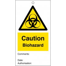 Biohazard Safety Tags 80mm x 150mm Pack of 10