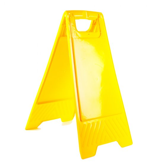 Blank Yellow Floor Stand