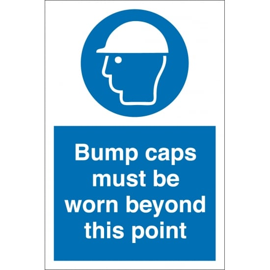 Bump Caps Must Be Worn Beyond This Point Signs
