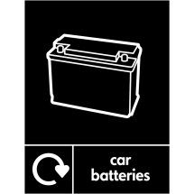Car Batteries Waste Recycling Signs