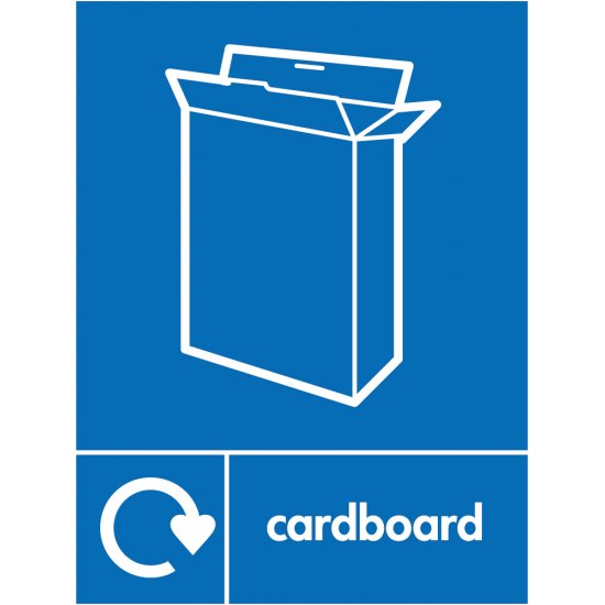 Cardboard Recycling Signs
