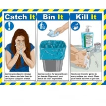 Catch It Bin It Kill It Posters 590mm x 420mm